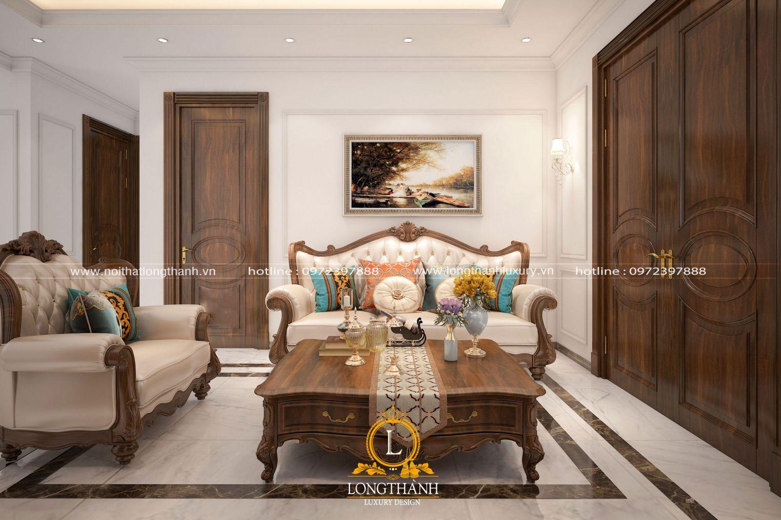 Kích thước sofa văng tân cổ điển phù hợp với mọi không gian