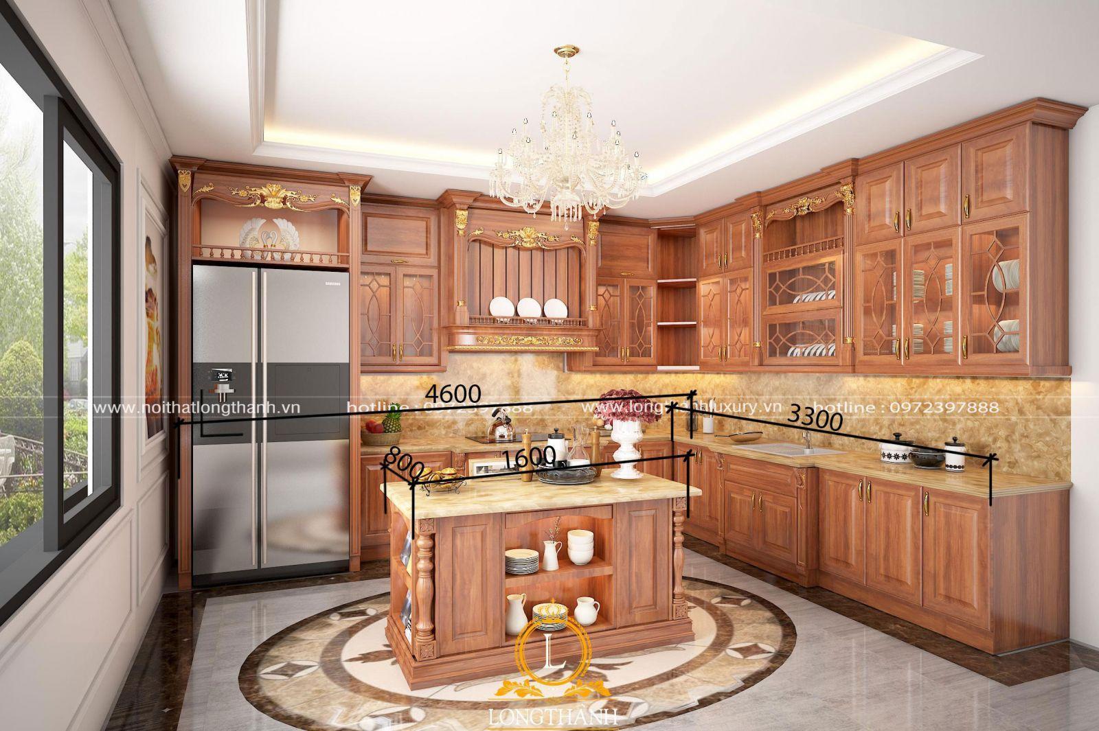 kích thước tủ bếp đúng tiêu chuẩn