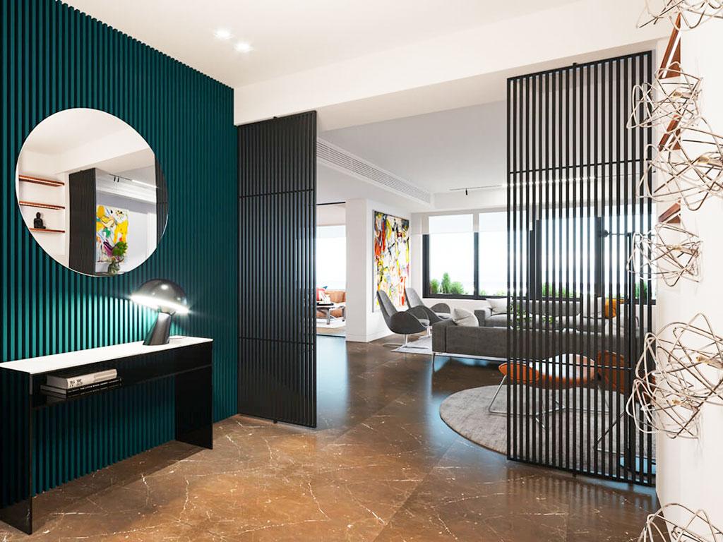 Kim loại được tận dụng triệt để trong thiết kế nội thất đương đại