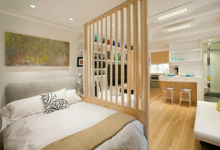 Lam gỗ làm vách ngăn các phòng