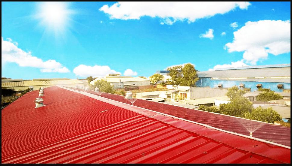 Lắp đặt hệ thống vòi phun nước tự động trên mái nhà giúp giảm nhiệt lượng