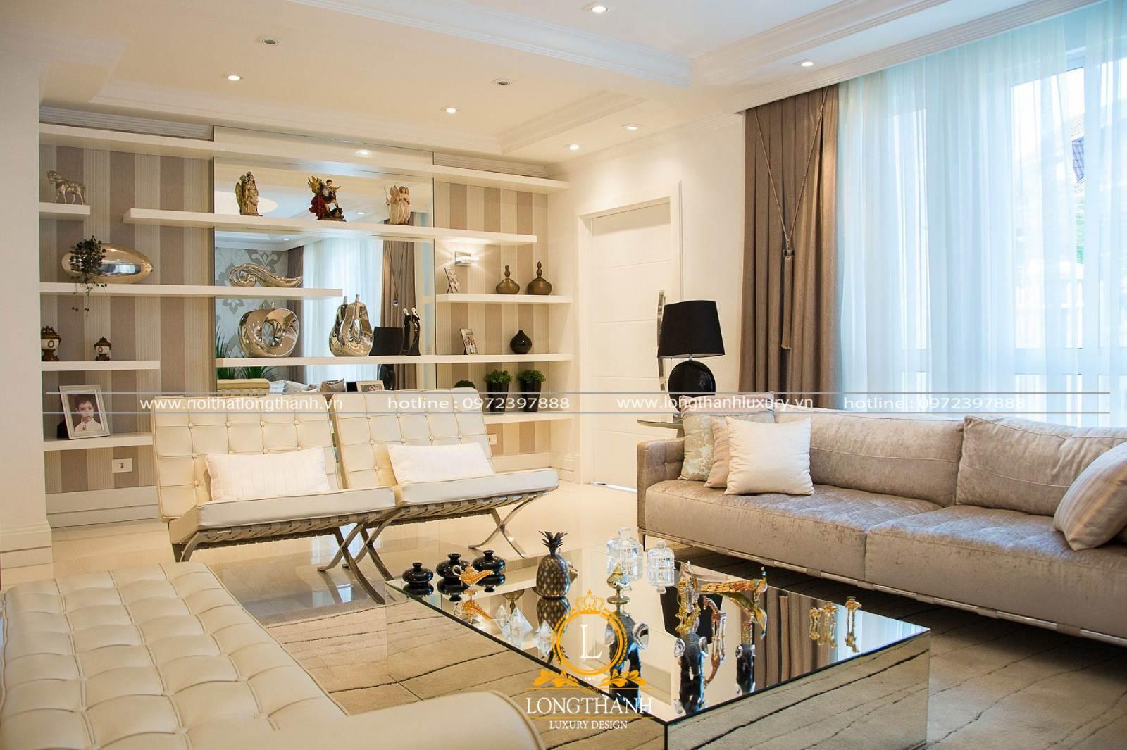 Lựa chọn bộ sofa chữ u phù hợp với kết cấu và phong cách của phòng khách
