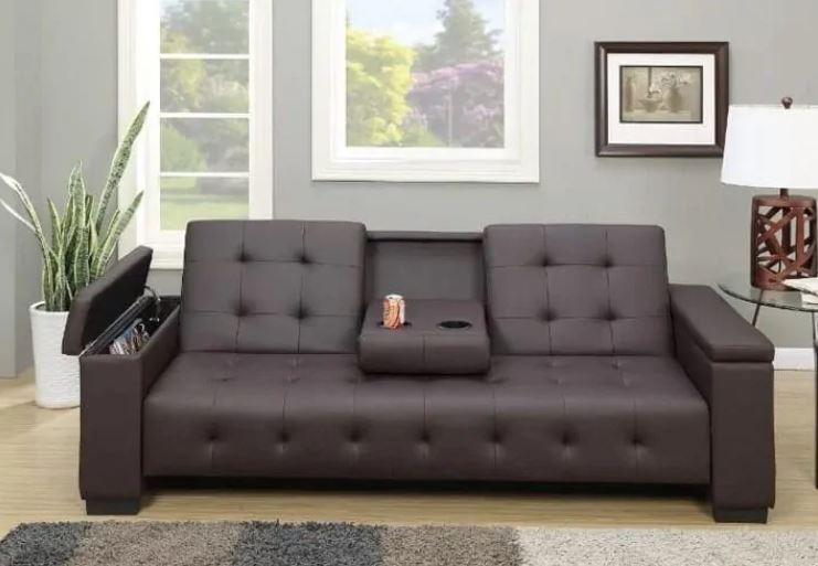 Ghế sofa giường với chất liệu da cao cấp cho không gian thêm sang trọng