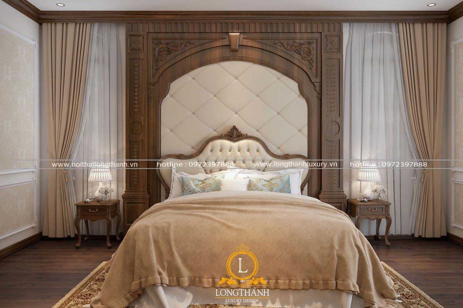 Thiết kế nội thất phòng ngủ tân cổ điển đơn giản mà sang trọng