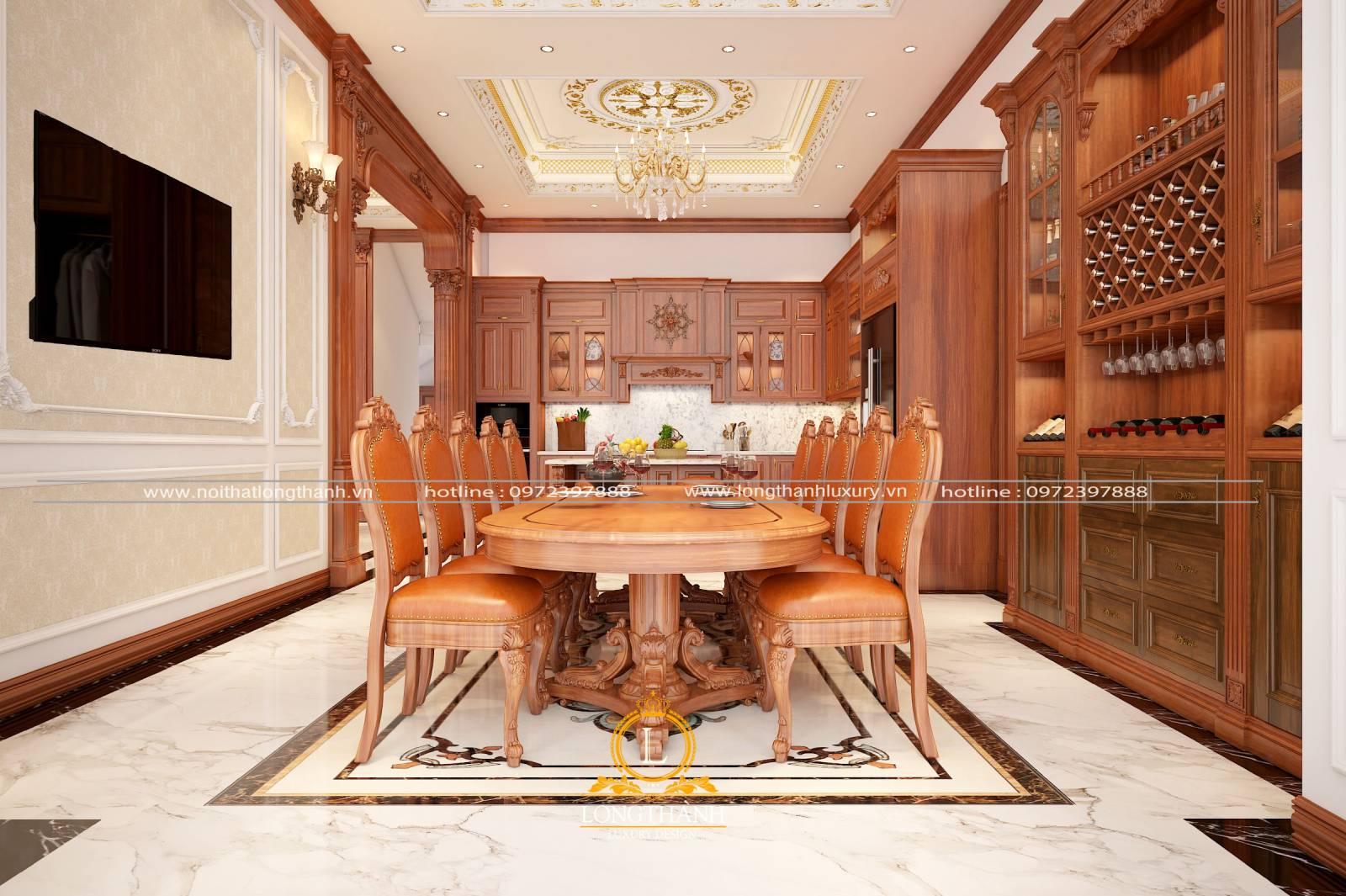 Mẫu bàn ăn sang trọng hiện đại cho không gian thêm phần cao cấp