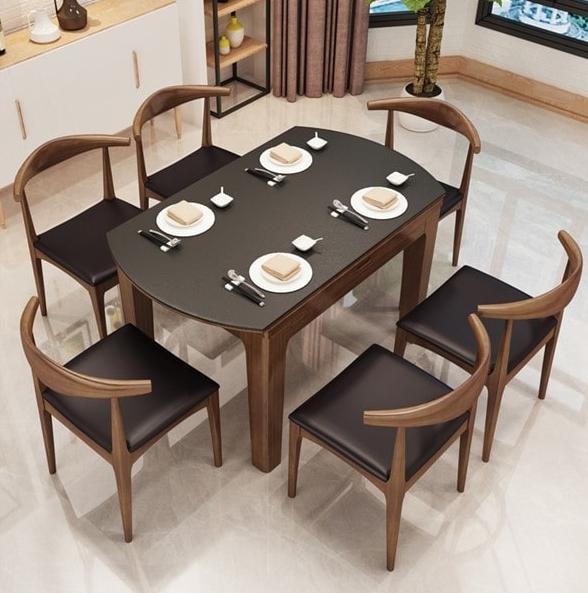 Thiết kế nội thất phòng bếp với mẫu bàn ăn nhỏ gọn tiện lợi
