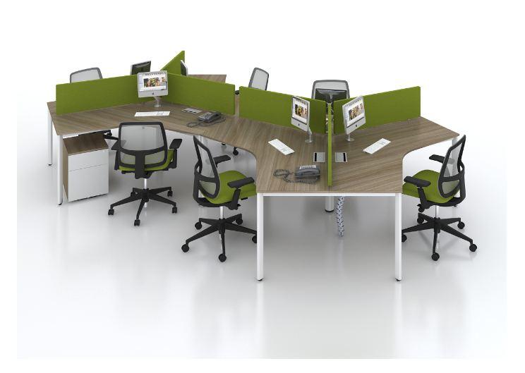 Thiết kế bàn làm việc đa năng tiện lợi cho văn phòng