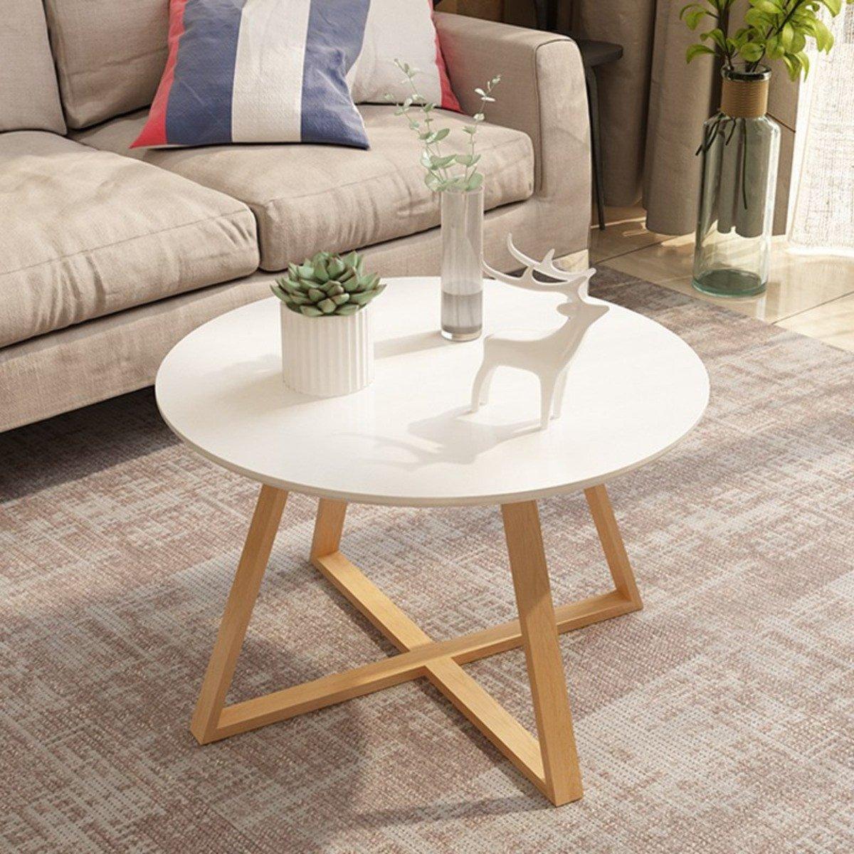 Mẫu bàn sofa sơn trắng xinh xắn