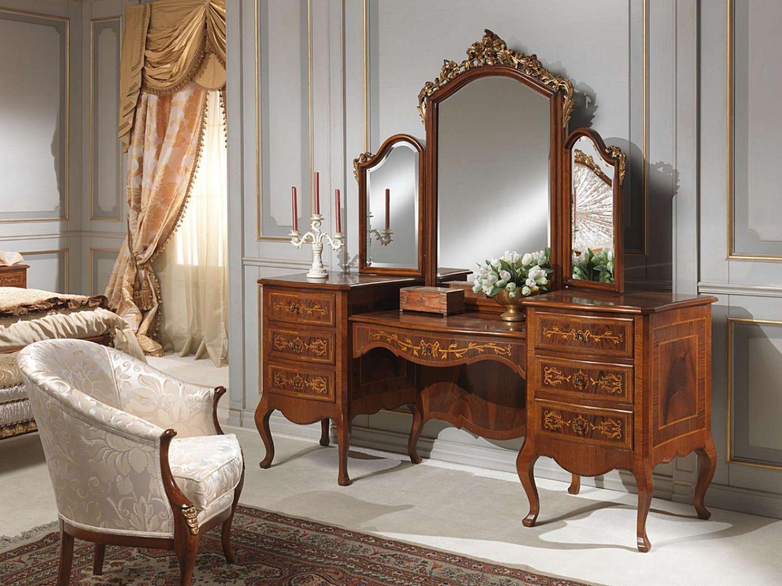Mẫu bàn trang điểm cho phòng ngủ tân cổ điển