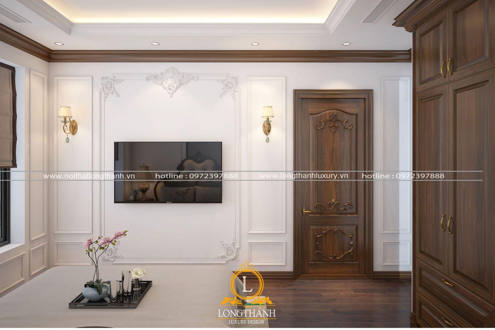 Mẫu cửa gỗ tự nhiêntân cổ điển đơn giản đẹp mê hồn