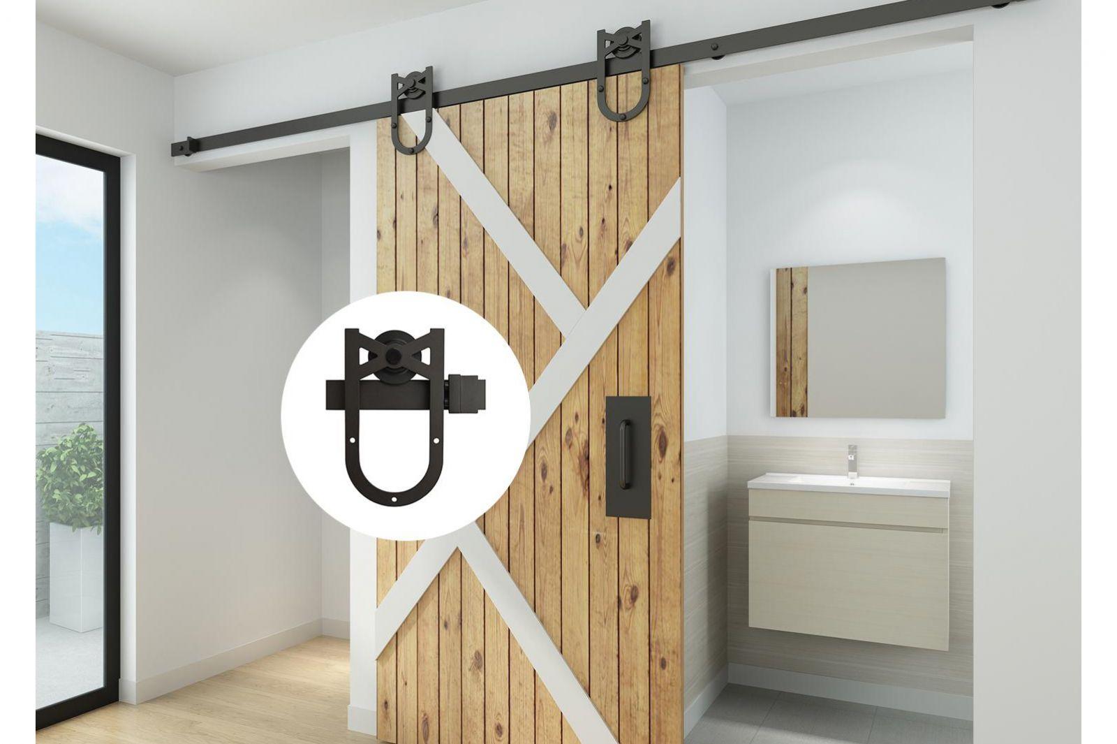 Mẫu cửa lùa gỗ tự nhiên cho phòng tắm