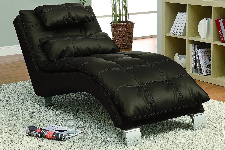 Mẫu ghế chaise màu đen