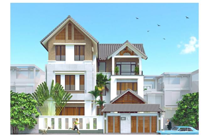 Mẫu thiết kế nhà biệt thự phố 3 tầng mang phong cách hiện đại thời thượng