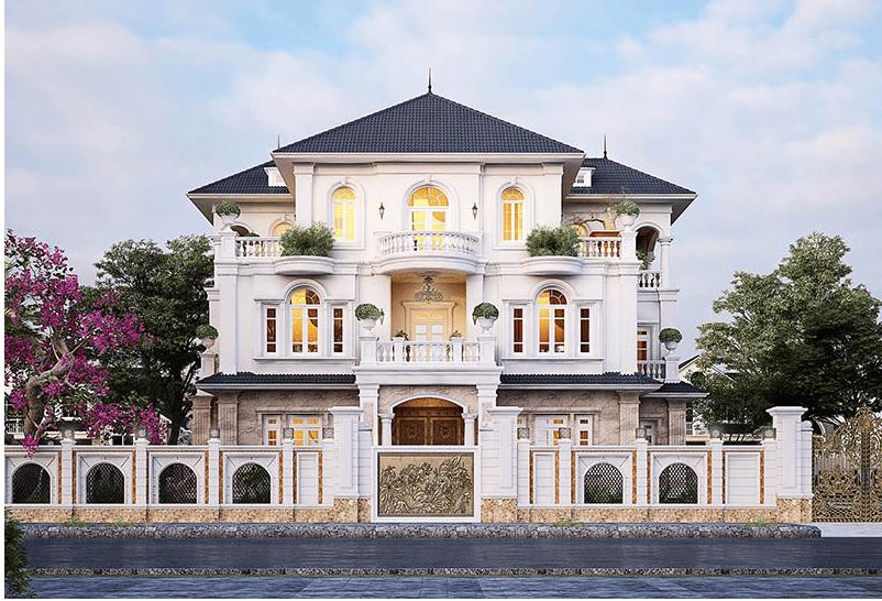Mẫu kiến trúc nhà biệt thự cổ dienrd sang trọng hiện đại