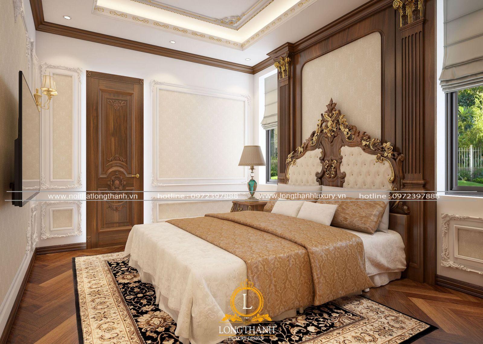 Mẫu nội thất phòng ngủ master đẹp