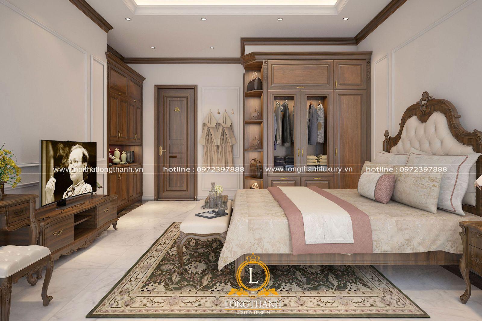 Mẫu phòng ngủ tân cổ điển dành cho ông bà