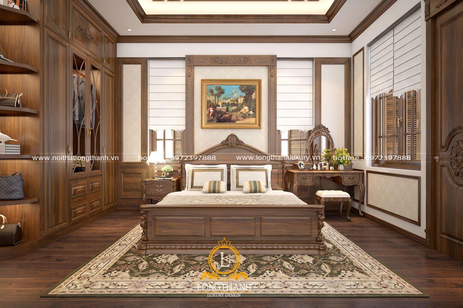Nội thất phòng ngủ đảm bảo sự gọn gàng, tiện nghi