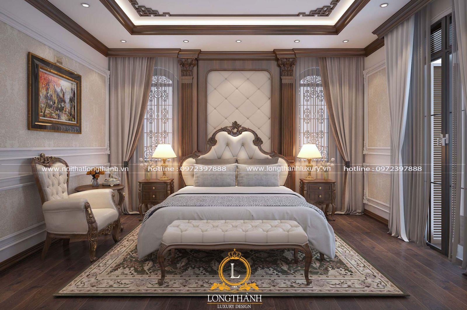 Tùy vào từng không gian sẽ có thiết kế phòng ngủ tân cổ điển khác nhau