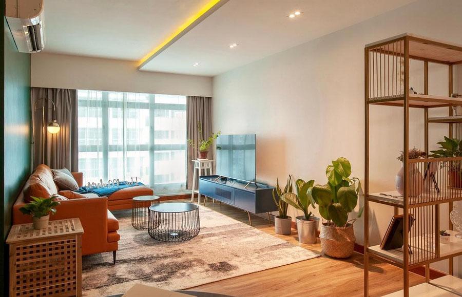 Màu sắc lộng lẫy đặc trưng phong cách nội thất retro