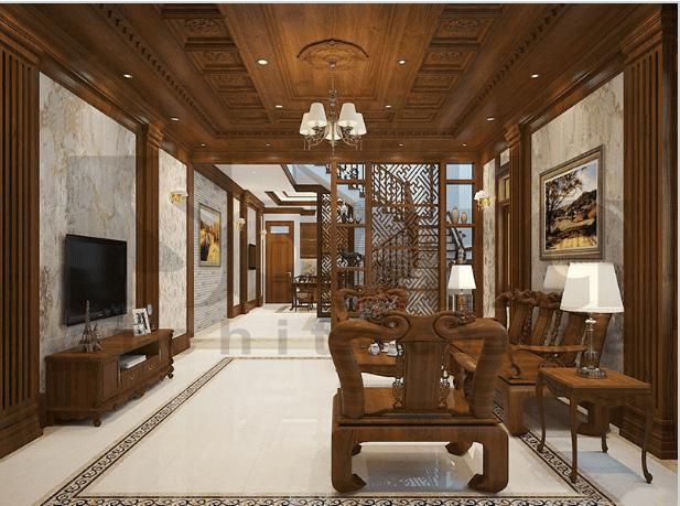 Thiết kế nội thất cổ điển với màu sắc ấm cúng trang nhã