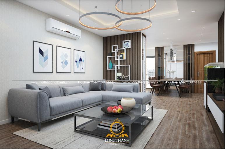 Màu sắc và trang trí phòng khách hiện đại đồng bộ