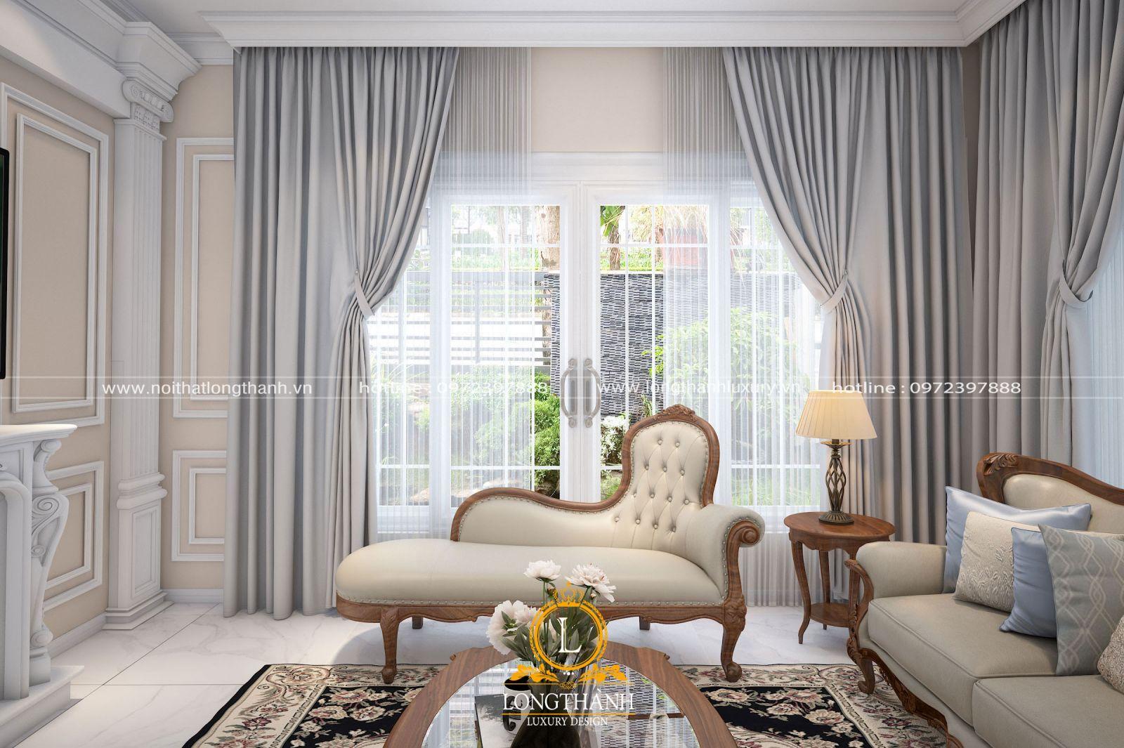 Mẫu sofa băng dài tân cổ điển