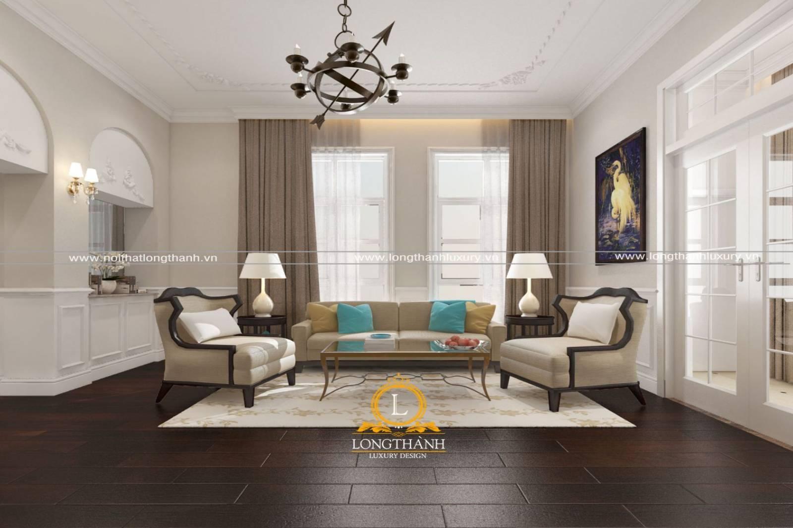 Mẫu sofa chữ u nhỏ phong cách hiện đại cho nhà chung cư