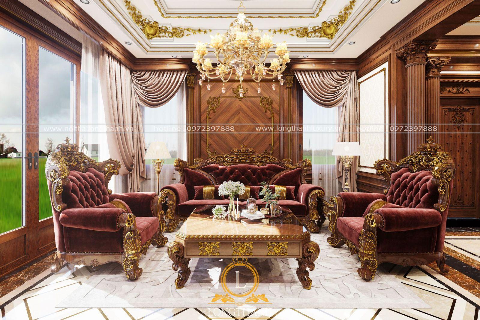 Sofa nhung được bọc bên ngoài là một lớp vải nhung với nhiều màu sắc