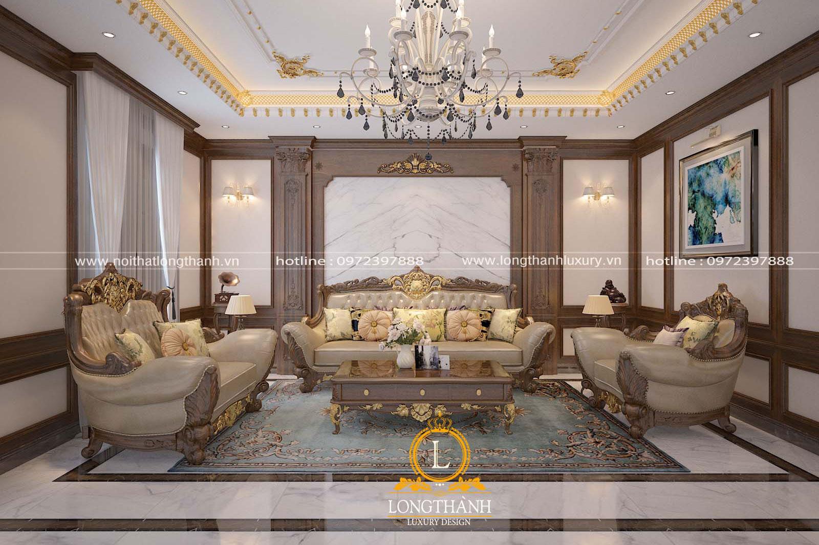 Mẫu sofa đẹp tân cổ điển phong cách châu Âu