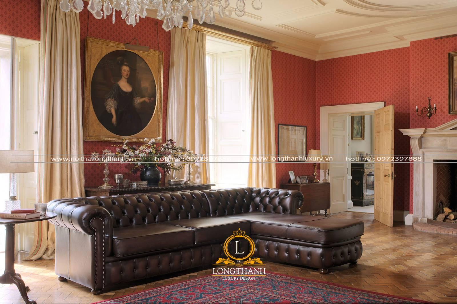 Mẫu sofa góc L phù hợp với nhiều phong cách thiết kế nội thất