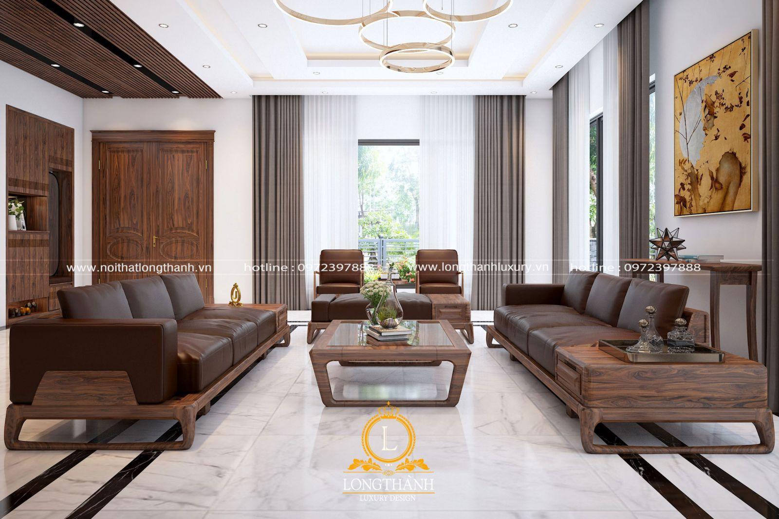 Mẫu sofa hiện đại cho phòng khách biệt thự