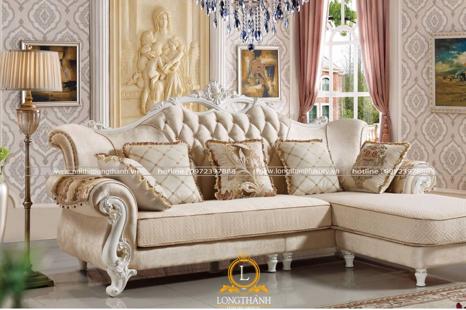 Mẫu sofa nỉ trong phòng khách thêm phần nhẹ nhàng ấm cúng