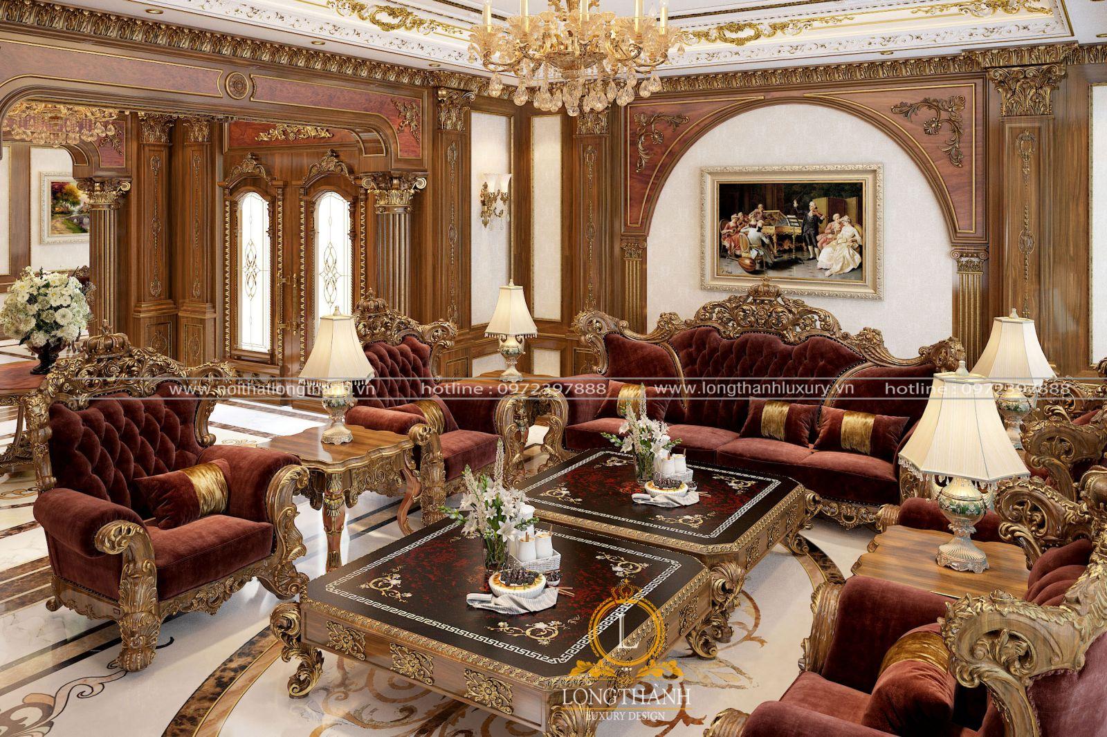 Bộ Sofa với từng chi tiết đều được nắn nót rất tinh tế