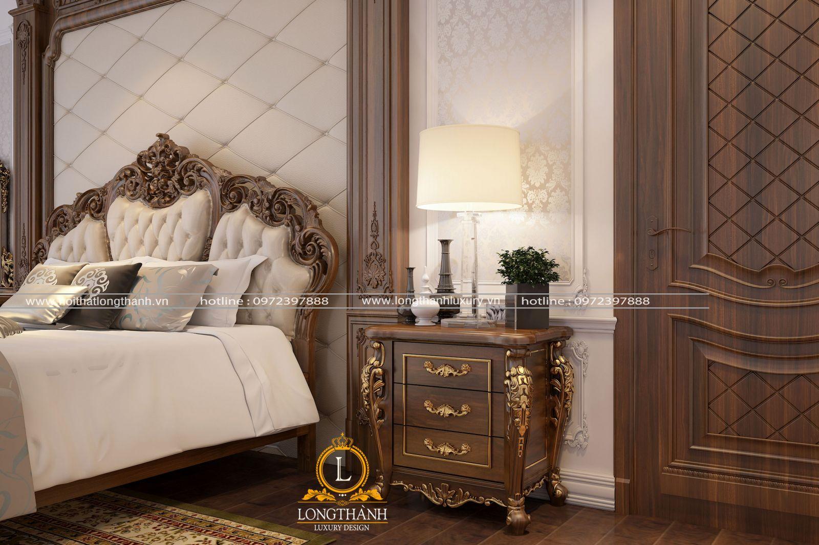 Mẫu táp đầu giường ba ngăn tiện nghi
