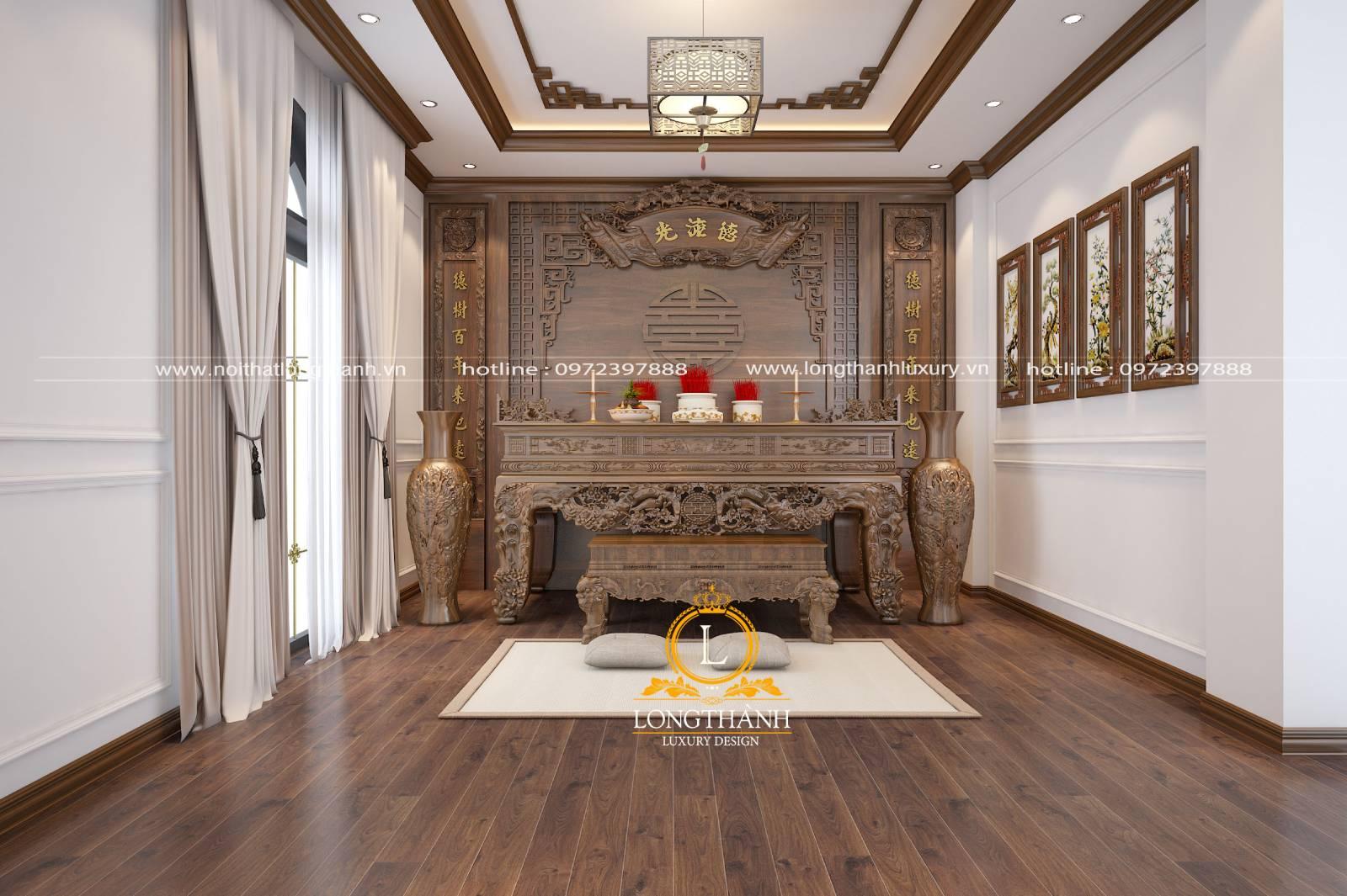 Mẫu thiết kế bàn thờ đẹp cho nhà ở chung cư