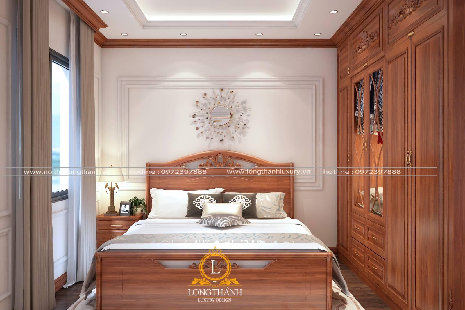 Mẫu thiết kế nội thất cho phòng ngủ khách sạn diện tích nhỏ