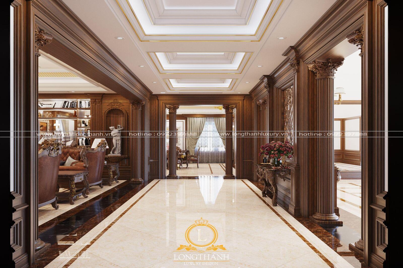 Phòng khách tân cổ điển LT11 góc sảnh