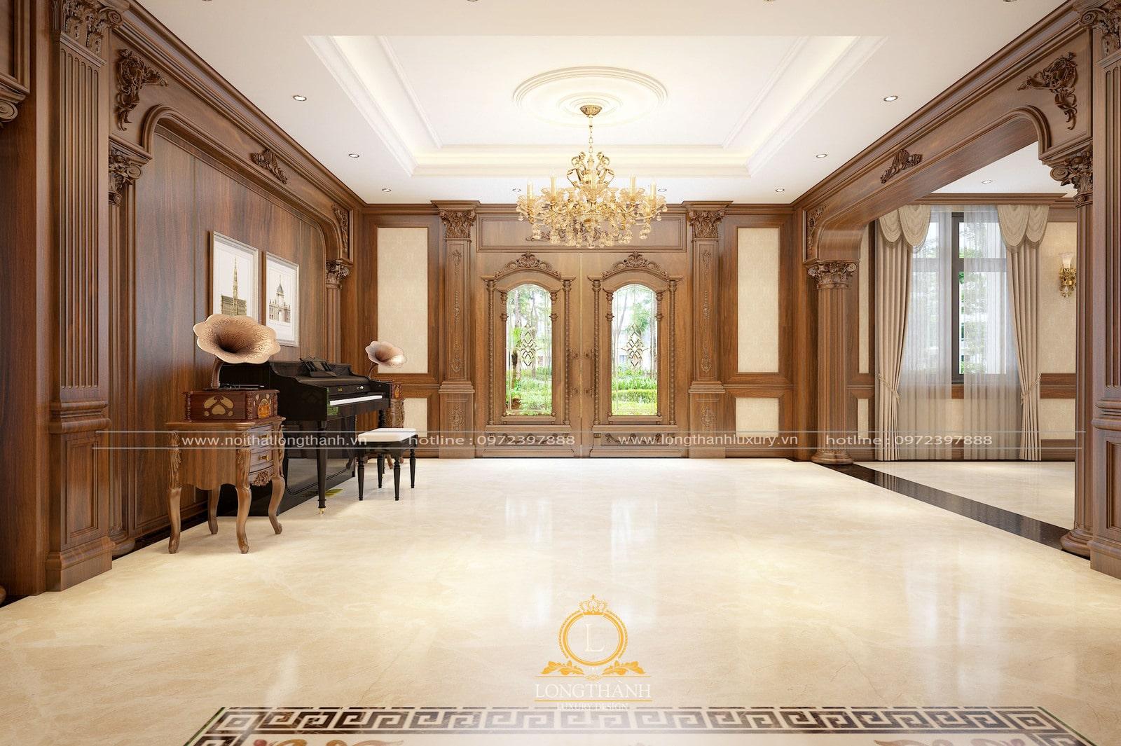 hiết kế nội thất phòng khách biệt thự đẹp