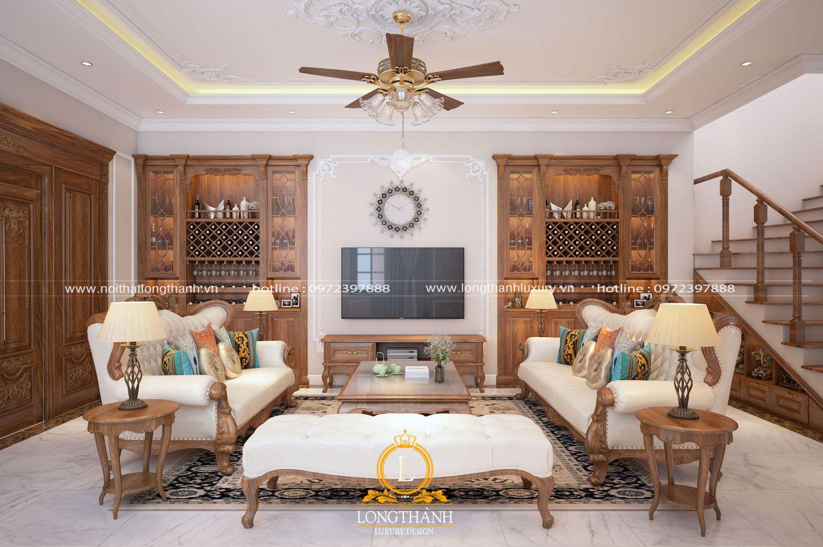 Ân tượng không gian phòng khách biệt thự mini đẹp