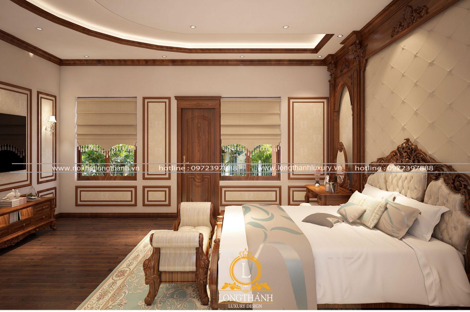 Nội thất phòng ngủ cho không gian biệt thự
