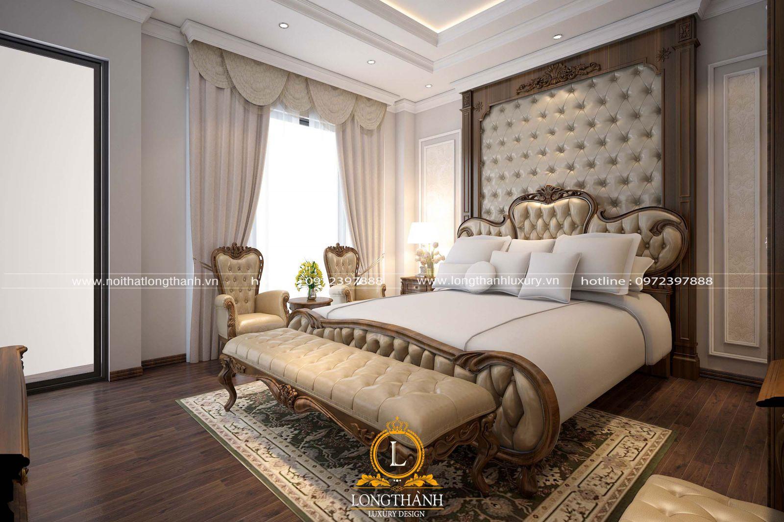 Phòng ngủ tân cổ điển với cách bày trí hợp lý