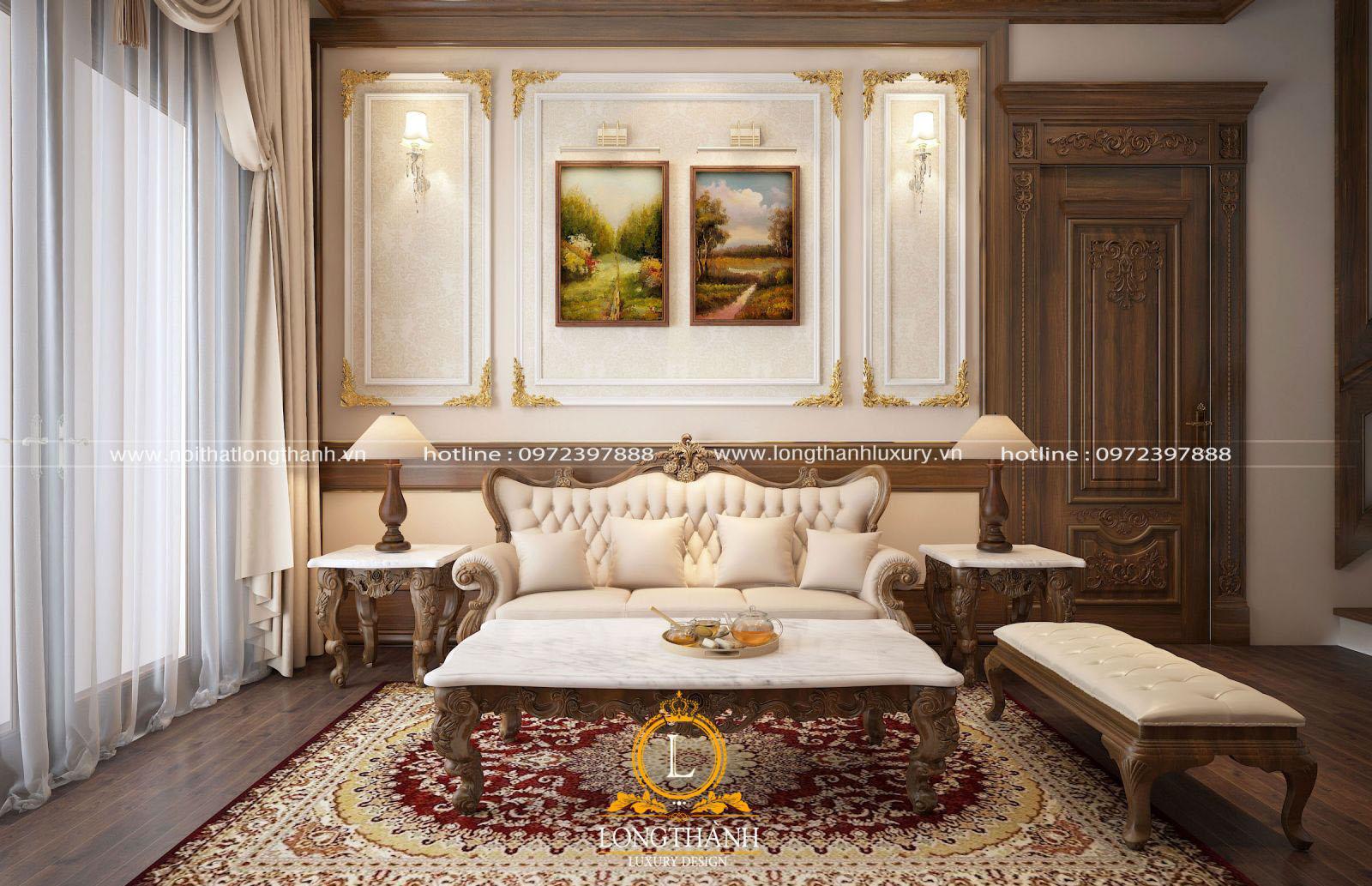 Mẫu thiết kế tối giản cho phòng khách