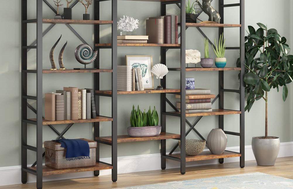 Mẫu tủ sách bằng kim loại