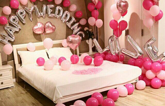 Mộng mơ với mẫu trang trí phòng tân hôn trắng hồng