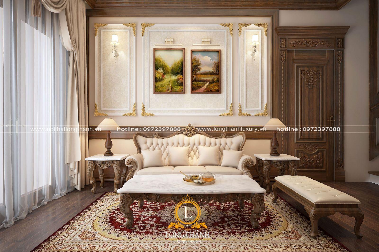 Nét đẹp nhẹ nhàng đến từ sofa văng tân cổ điển