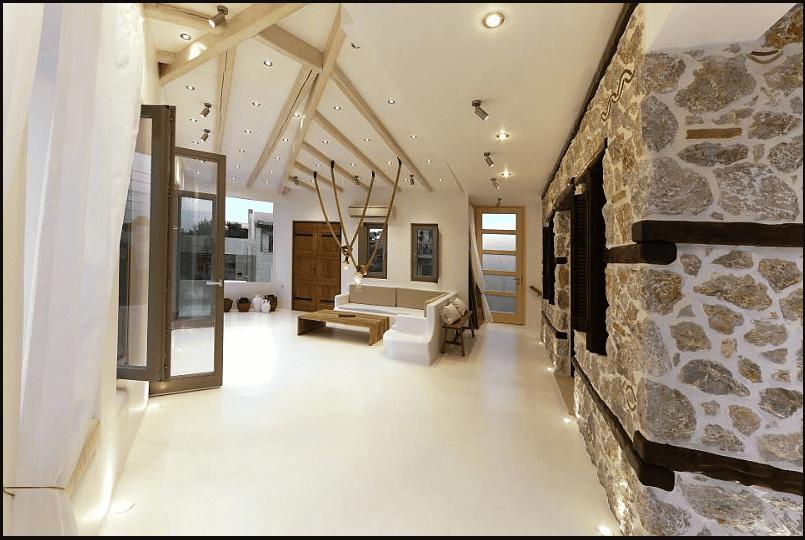 Những bức tường thiết kế theo phong cách Hy Lap