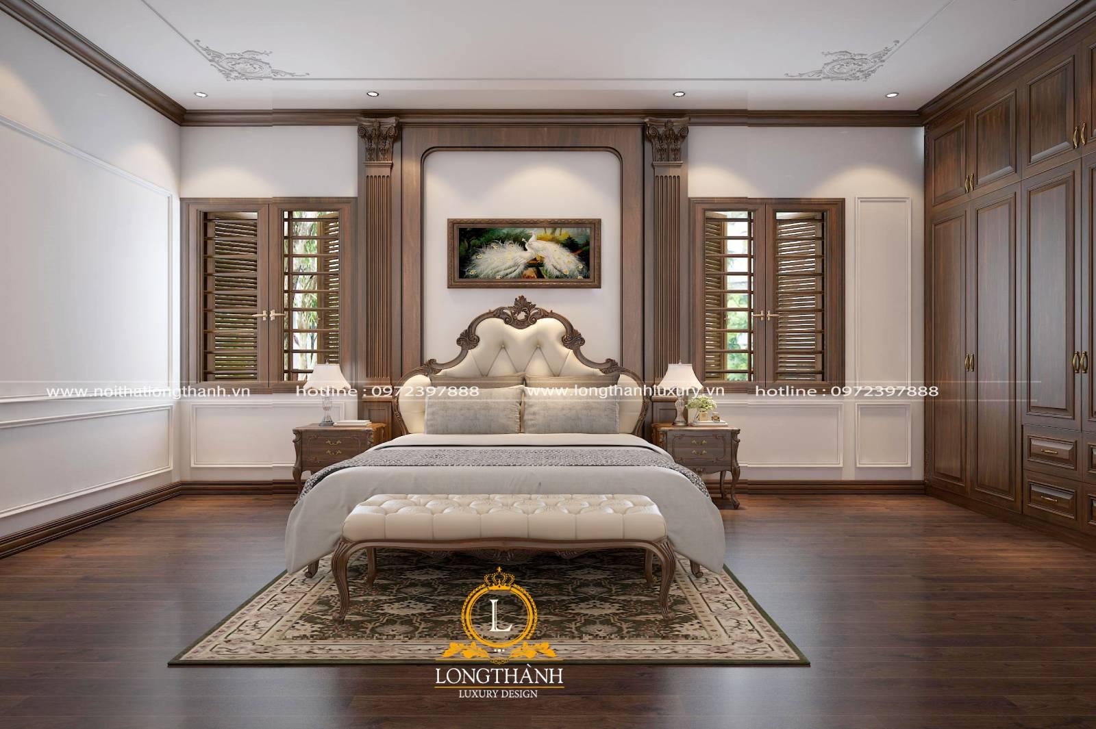 Nội thất bằng gỗ cho phòng ngủ sang trọng