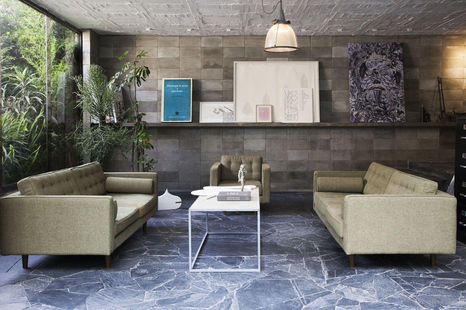 Nội thất Brutalism thể thiện tính chân thực và thân thiện với môi trường