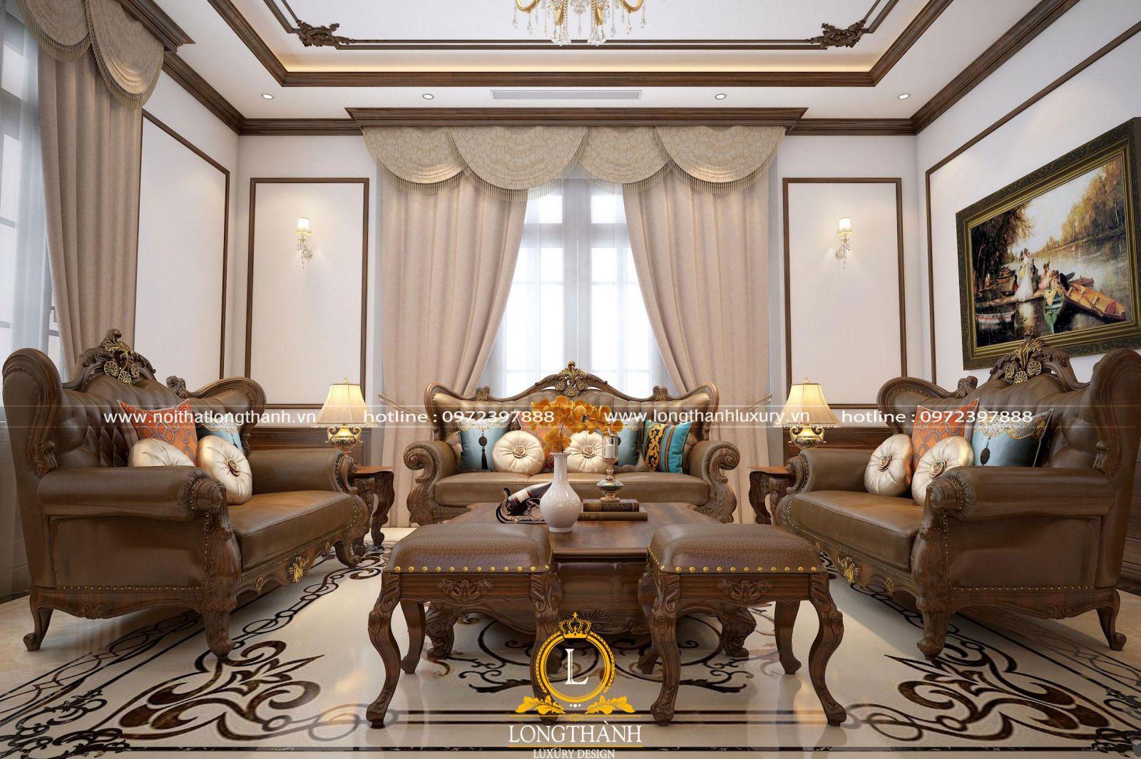 Nội thất đẹp cho phòng khách biệt thự