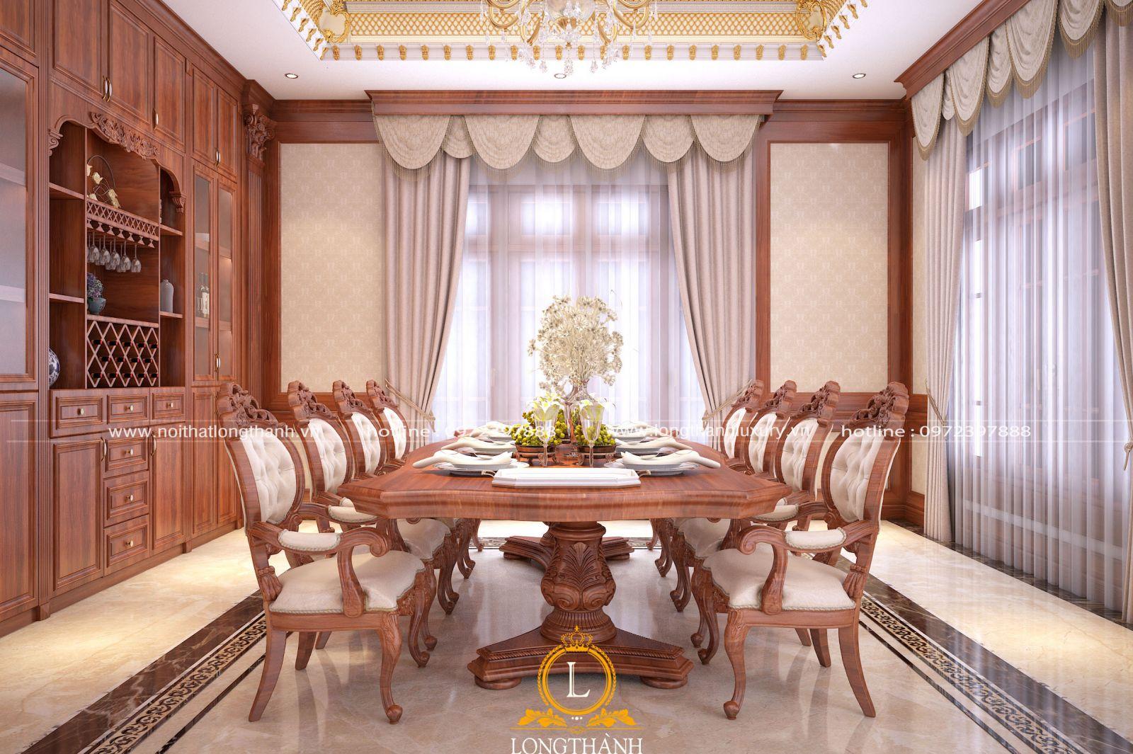 Bàn ghế ăn tân cổ điển là nơi gắn kết tình cảm gia đình